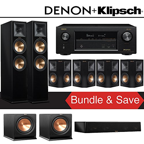 Klipsch-RP-280F-72-Ch-Reference-Premiere-Home-Theater-System-Piano-Black-with-Denon-AVR-X3400H-72-Channel-4K-Network-AV-Receiver
