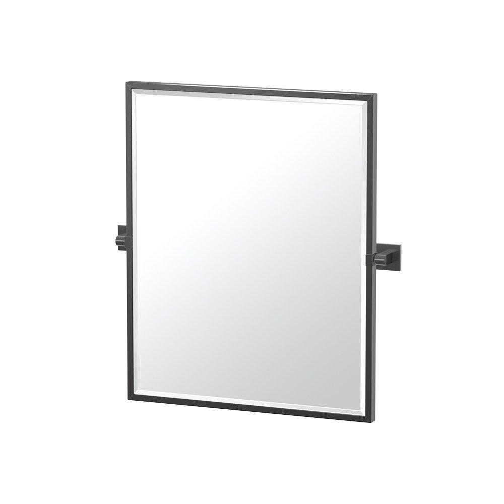 Gatco 4059XFSM Elevate Bathroom Framed Small Rectangle Mirror, 25-inch, Matte Black