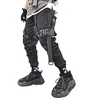 Ambcol Heren Joggers Streetwear Mannen Hip Hop Goth Broek Joggingbroek Techwear Tactische Zwarte Tactische Urban Joggers…