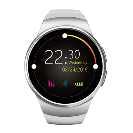 Bluetooth Smart Watch KW18 1.3 inches IPS Round Touch Screen Smartwatch Phone with SIM Card Slot,Sleep Monitor,Heart Rate Monitor and Pedometer for ...