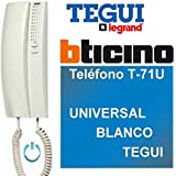 Legrand/Bticino - Telefono t-71u universale, bianco