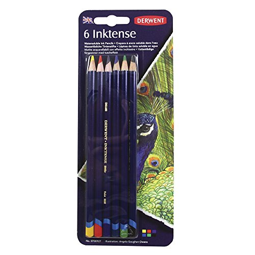 Derwent Colored Pencils, Inktense Ink Pencils, Drawing, Art, Pack, 6 Count (0700927)