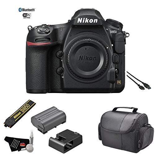Nikon D850 FX-Format DSLR Camera (Body) - Kit with Carrying Case + More - International Model