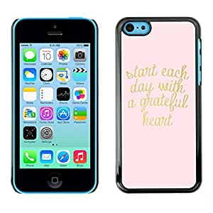 Plastic Shell Protective Case Cover || Apple iPhone 5C || Text Heart Motivational Text @XPTECH