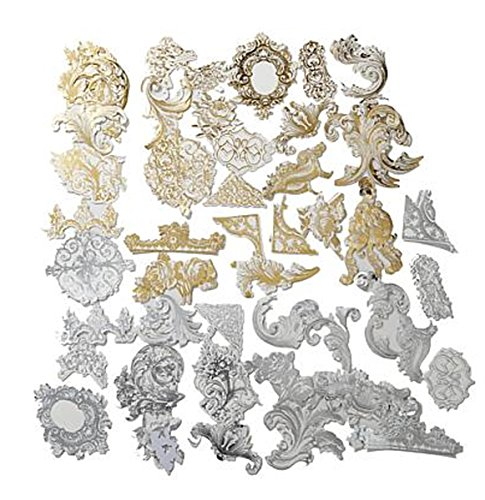 Anna Griffin Gold and Silver Flourish Sticker Embellishments ~ (Anna Griffin Scrapbook Pages)