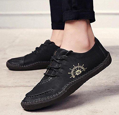 Zapatos de hombre para barcos Zapatos de hombre británicos para hombre Urban Juvenil Daily Life Zapatos retro Zapatos planos Black