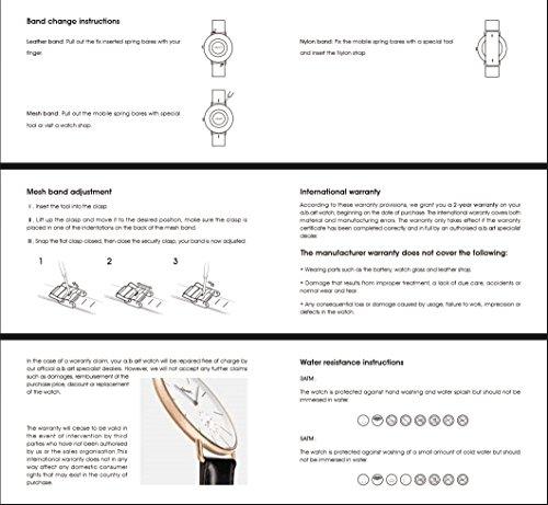a.b.art FD36-101-6S Women's Fashion Wrist Watch Date Display Watch Silver tone (Mesh bracelet steel-Steel) by a.b.art (Image #5)