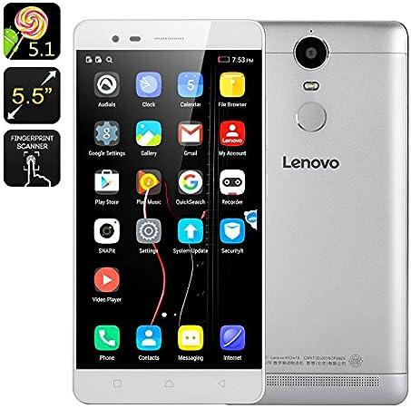 Lenovo K5 Note 3+32GB 4G LTE Dual Sim Android 5.1 Octa Core 1.8GHz 5.5 inch FHD 8+13MP Plata: Amazon.es: Electrónica