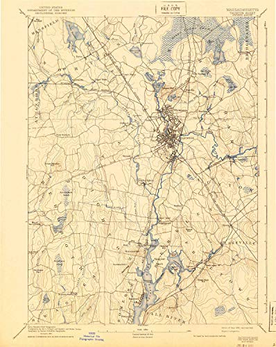 YellowMaps Taunton MA topo map, 1:62500 Scale, 15 X 15 Minute, Historical, 1893, Updated 1940, 19.8 x 15.7 in - Paper -