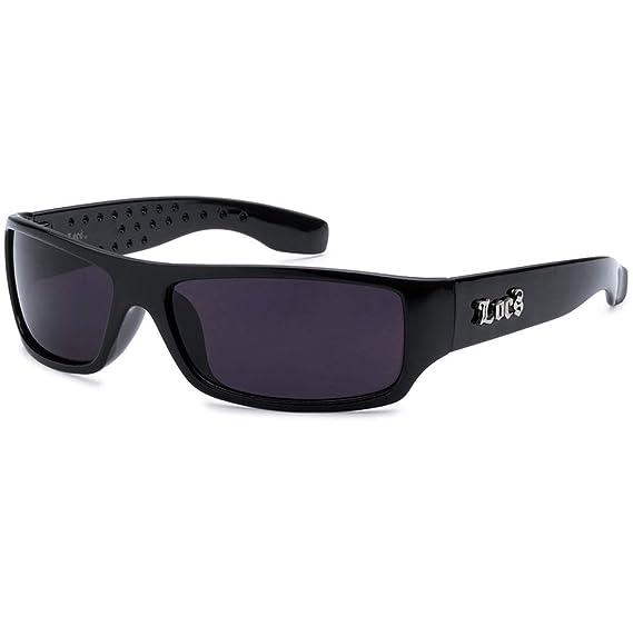 45a728e1ff Image Unavailable. Image not available for. Color  LOCS Sunglasses Hardcore  Black Dark Lens 103 Designer ...