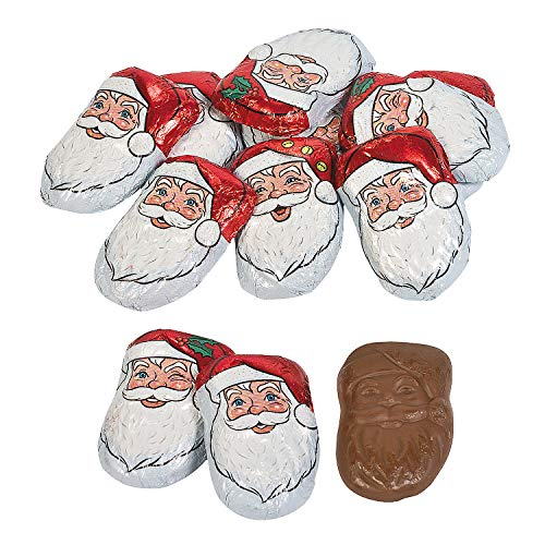 Fun Express - Caramel Santas for Christmas - Edibles - Chocolate - Non Branded Chocolate - Christmas - 40 Pieces]()