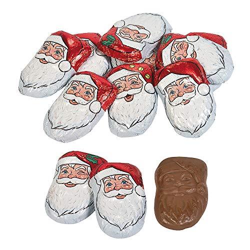 Fun Express - Caramel Santas for Christmas - Edibles - Chocolate - Non Branded Chocolate - Christmas - 40 Pieces