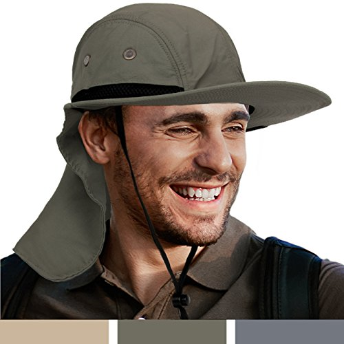 oor Sun Bucket Hat With Soft Neck Flap by Sun Cube | Wide Brim, Soft Neck Flap, Sun Protection, Unisex | Ideal For Fishing, Hiking, Camping, and Outdoor Activities (Olive) (Blazing Bucket)