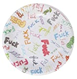 7in dirty dishes f-bomb plates - bag of 8 (Package Of 5)