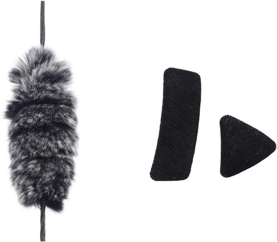 1 Pair Beaver Fur Balls String Silencers for Recurve Bow Longbow Stabilizer