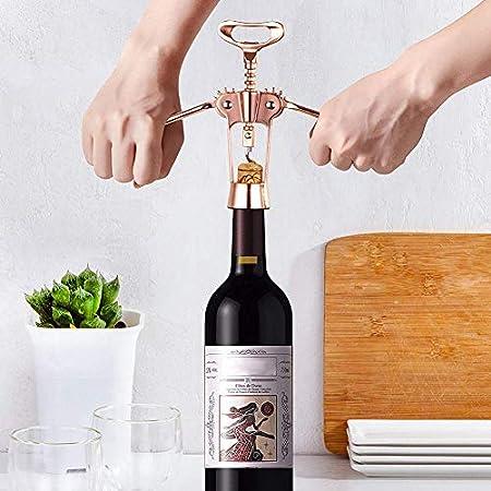 Byilx Sacacorchos multifunción Sacacorchos abridor de botellas de vino acero inoxidable restaurante cocina fiesta herramienta