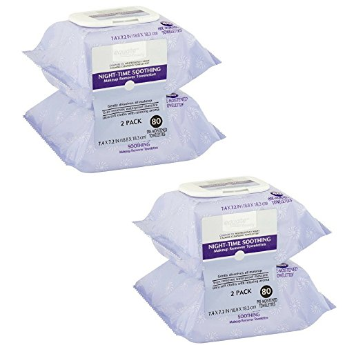 - Equate Beauty Night-time Soothing Makeup Remover Towelettes, 40 sheets, 2 count (Pack of 2)