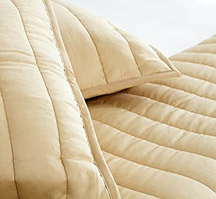 Full//Queen SHEEX ECOSHEEX Lightweight Comforter with Temperature Regulating Bamboo Fabric for an Ultra Soft Feel to Help Keep You Comfortable All Night Taupe