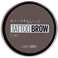 Maybelline Eyebrow, Tattoo Brow Longlasting Eyebrow Pomade Pot Ash Brown