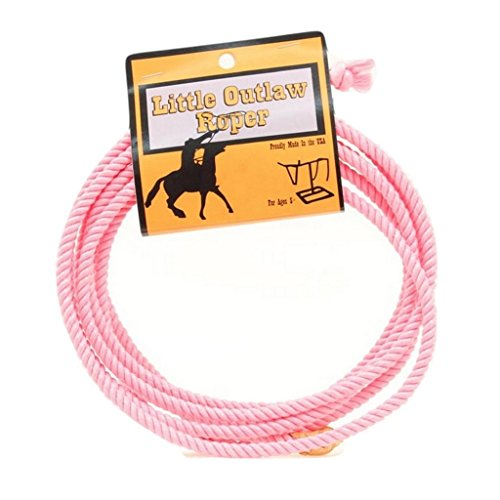 M & F Western Girls' Little Outlaw Lasso Rope Pink One -