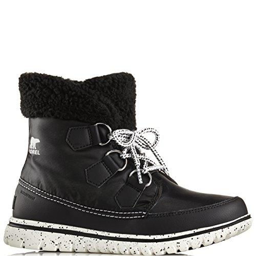 Womens Sorel Cozy Carnival Hiking Casual Winter Snow Walking Ankle Boots   Black  Sea Salt   9