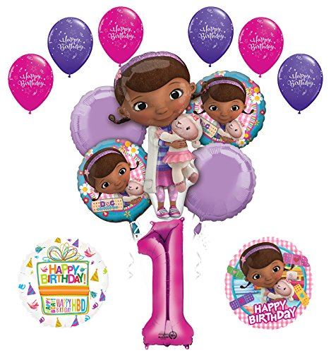 Doc McStuffins 1st Birthday Party Supplies and Balloon Bouquet Decorations ()
