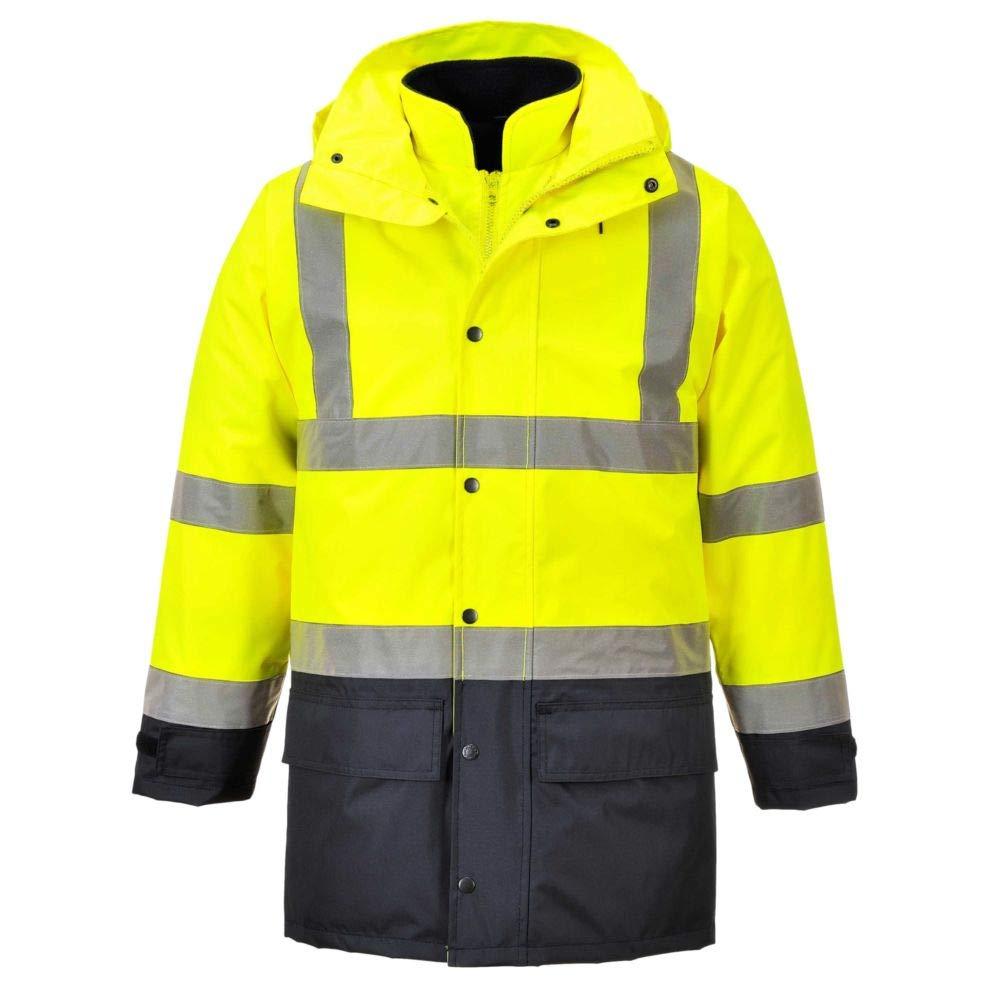 Parka haute visibilit/é 5 en 1 Executive jaune fluo//marine EN 471 3//1
