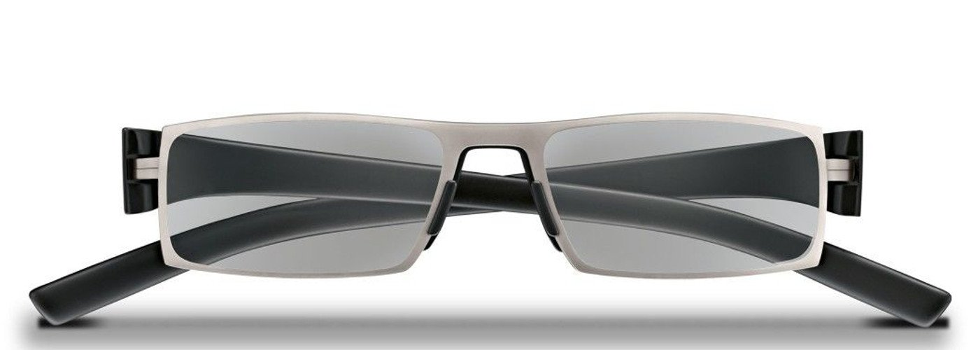 2ec55a363af Amazon.com  Porsche Design +2.00 Reading Tool Model P 8802 with +2.00  PHOTOCHROMIC LENSES (changes from 8% thru 85% light absorption) - Titanium  Mat Frame ...