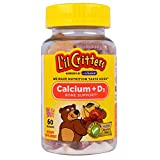 L'il Critters Calcium Gummy Bears With Vitamin D 60 Each (Pack of 4)