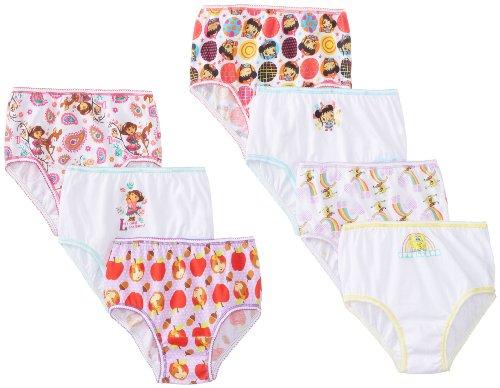 Handcraft Little Girls'  Nick Jr Multi  Panty (Pack of 7), Assorted, 2/3T