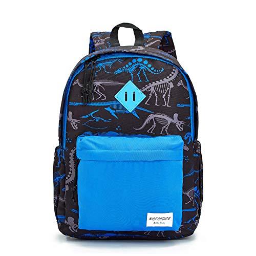 Preschool Backpack Little Kid Toddler Kindergarten School Backpacks for Boys and Girls with Chest Strap (Dinosaur Blue)