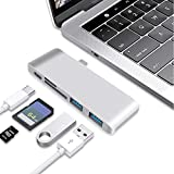 Vou tiger USB C Hub Type C Adapter Hub with 2 USB 3.0 Ports and TF/SD Card Reader 5 in 1 Power Type-C Charging Port for MacBook,Chromebook Pixel,Surface Pro4