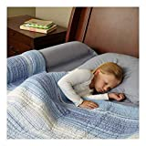 [1-Pack] hiccapop Toddler Bed Rail Bumper/Foam Safety Guard for Bed - Side Rail with Waterproof Cover - Pillow Pad for Toddlers, Kids
