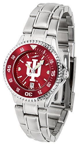 Indiana Hoosiers Competitor Steel AnoChrome Women's Watch - Color Bezel