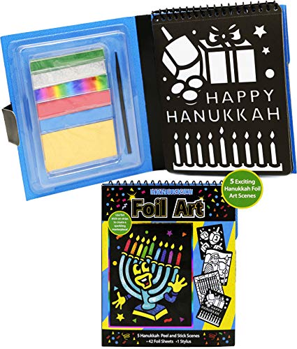 Hanukkah Foil Art Chanuka Activity Pack