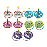 Fun Express Unicorn Ring Toss Game 10-Piece Set | Rope Rings, Wooden Bases | Great for Kid's Birthday Party Games