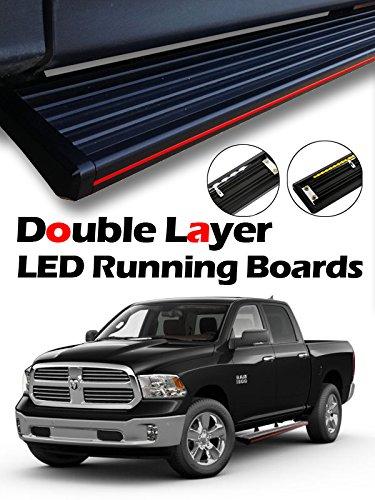 Custom Dodge Ram >> Mph Auto 5 5 Innovative Running Boards Led Light Bars Pre Installed Custom Fit 2009 2018 Dodge Ram 1500 Crew Cab 2010 2018 Ram 2500 3500 Crew Cab