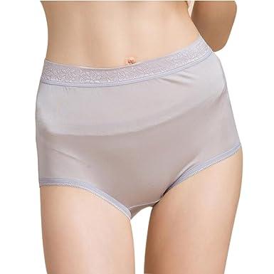 c42a1f2606 Manka Vesa Women s 100% Pure Mulberry Silk Under Panties High Waist Underwear  Boy Shorts Silver