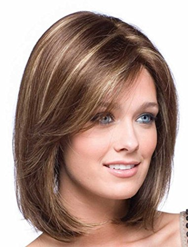 Wigs For Women Of Color (Tsnomore Short Mixed Color Synthetic Women Wig (Middle Length Brown))