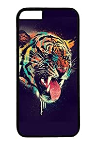 iPhone 6 Case, Personalized Unique Design Covers for iPhone 6 PC Black Case - Tiger Tattoo by icecream design