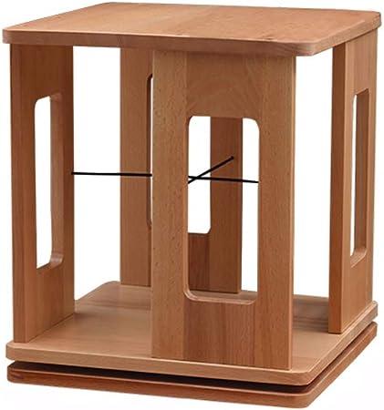 Estante para Libros - Mesa giratoria Estante para mesas Estante para mesas Escritorio de Madera para Estudiantes Estantería de Almacenamiento Multifuncional (Color : A, Tamaño : 33x33x39cm): Amazon.es: Hogar