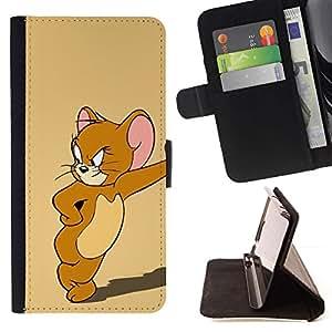Momo Phone Case / Flip Funda de Cuero Case Cover - JERRY RATÓN DE LA HISTORIETA - LG G4 Stylus H540