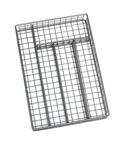 Lipper International 8167 Flatware Organizer, 5 Compartments, Metal Wire, 10
