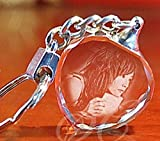 CL Personalized Custom Your Own Photo - Laser Engraving Crystal Glass Keychain with LCD Light