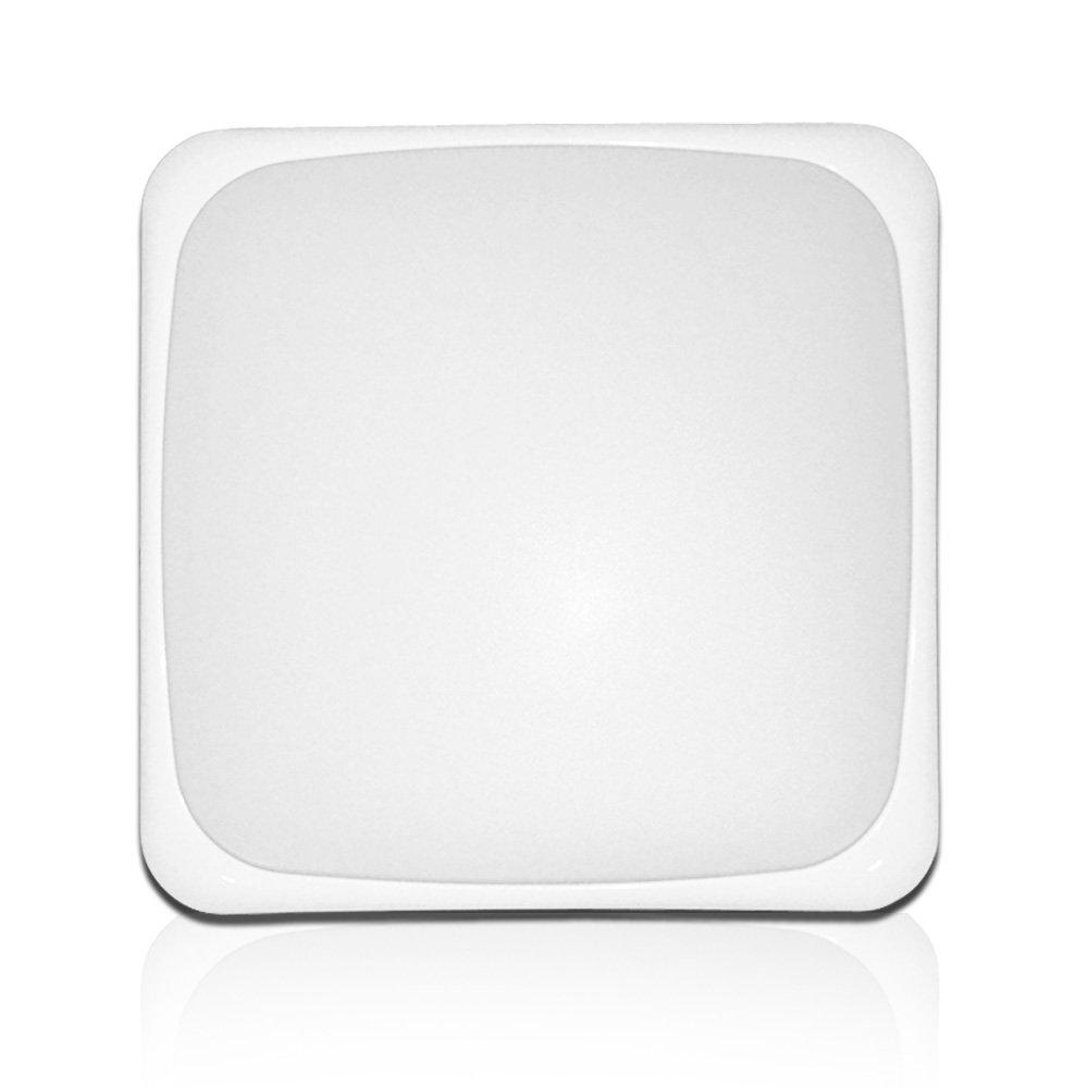 AFSEMOS LED Flush Mount Ceiling Light,10'', 24W(140W Incandescent Equivalent), Surface Mounted Downlight,Square LED Ceiling Lights for Bedroom,Living Room,Kitchen,1600lm,Cool White(6000K)