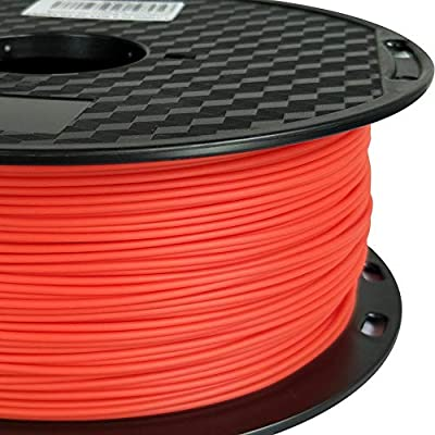 PLA MAX Red 3D Printer Filament 1.75 mm 1 KG (2.2 LBS) Spool Printing Materials High Strength High Toughness Comparable to ABS Than PLA PRO (PLA+) PLA Plus Filament