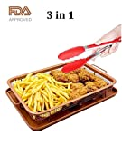 Copper Crisper Tray as Oven Oil Free Air Fryer with Bonus Kitchen Silicone Tong