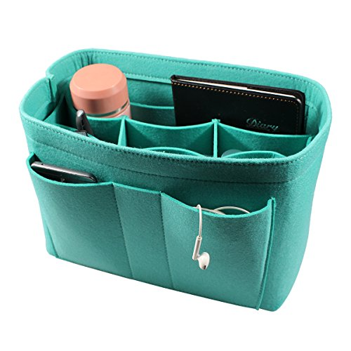 Pm Blue Handbag (ETTP Felt Insert Bag for Handbag Purse Organizer, Medium, Blue)