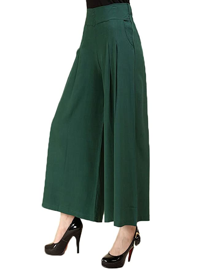 80f4a50ed Soojun Women's Summer Lightweight Pleated Palazzo Pants at Amazon Women's  Clothing store: