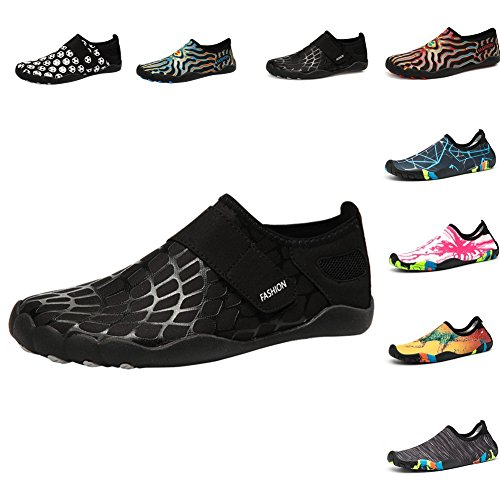 Johnlouise Womens and Mens Water Shoes Barefoot Quick-Dry Aqua Slip On for Summer Beach Swim Surf Yoga Exercise by Johnlouise
